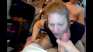 Homemade threesome with friend